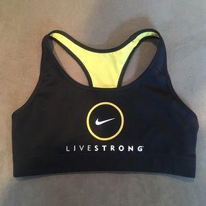 Nike Livestrong Black Reversible Sports Bra